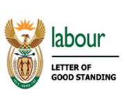 Department of Labour - Letter of Good Standing