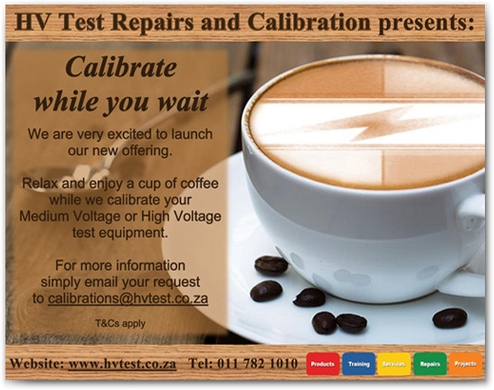 Enjoy a Free Cup of Coffee while you wait for your Equipment to be Calibrated